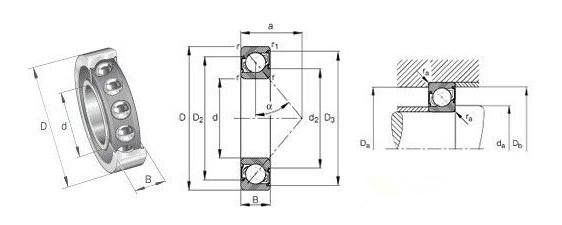 FAG机床主轴轴承B71940C.T.P4S轴承结构图:  精密轴承系列参数规格信息来源于官方资料,可以放心查询,如若想更进一步了解,可咨询我司工程师,东莞安昂是一家专业的代理FAG轴承经销商,所售产品均为原装进口,请放心订购。FAG机床主轴轴承B71940C.T.P4S轴承,是常用和热销型号,有高速型、耐磨性等优点。 FAG机床主轴轴承B71940C.